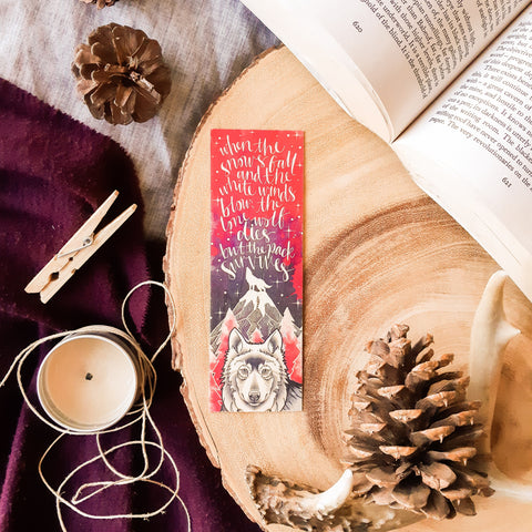 The Pack Survives Wooden Bookmark