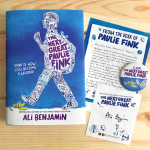 The Next Great Paulie Fink (w/ Signed Bookplate, Author Letter, Button)