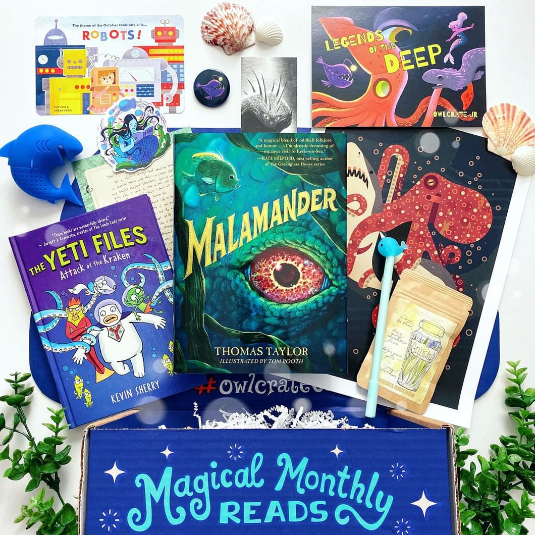 OwlCrate Jr September 2019 'LEGENDS OF THE DEEP' Box