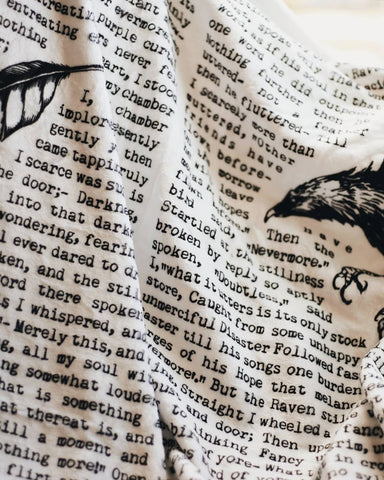 'The Raven' Flannel Blanket