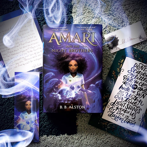 Amari and the Night Brothers (Exclusive Edition w/ Signed Bookplate, Author Letter, Bookmark, Sticker)