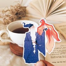 Dumbledore and Fawkes Sticker