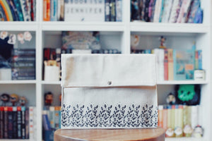 Exclusive Canvas Book Clutch