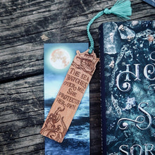 The Sea Watches Over Me Wooden Bookmark