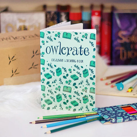 OwlCrate Enamel Pin Coloring Book