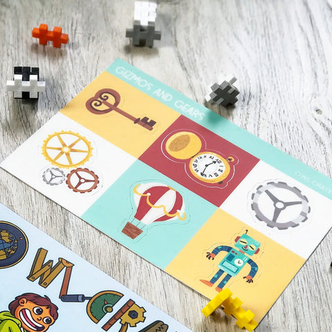 Gizmos & Gears Sticker Sheet