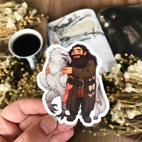 Professor and Hippogriff Sticker