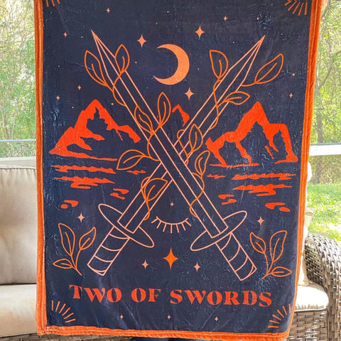 Two of Swords Tarot Blanket