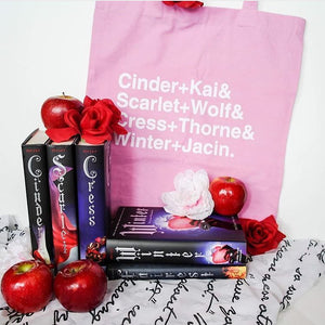 'Cinder+Kai&...' Lunar Chronicles Inspired Tote Bag (Pink)