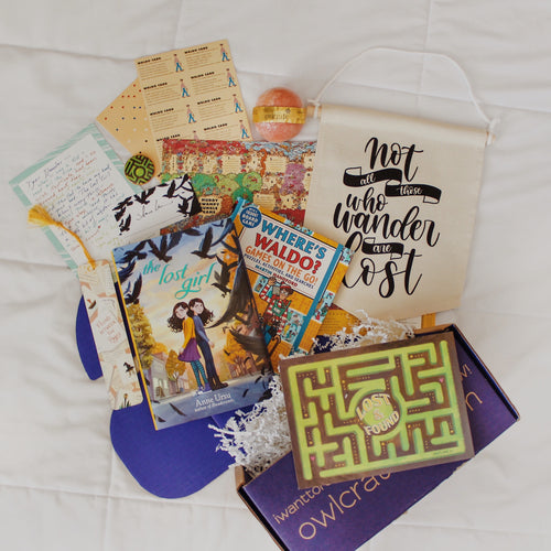 OwlCrate Jr February 2019 'LOST AND FOUND' Box