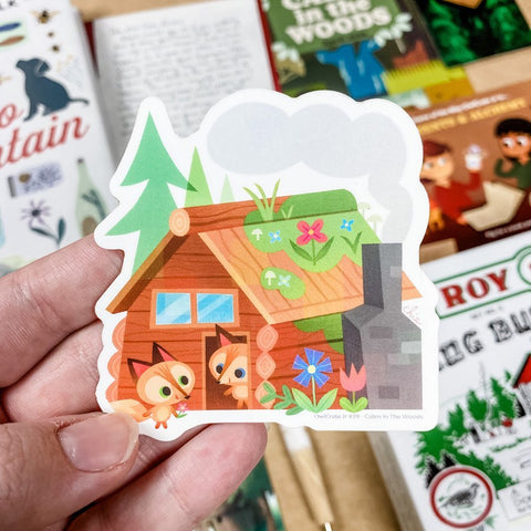 April 'Cabin in the Woods' Sticker