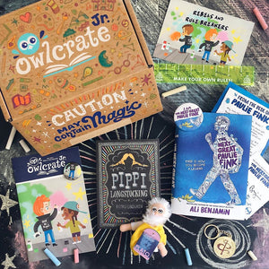 OwlCrate Jr May 2019 'REBELS & RULEBREAKERS' Box