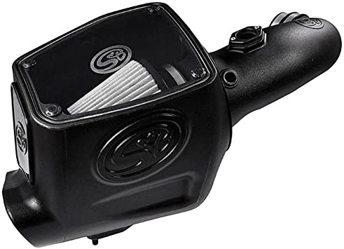 Cold Air Intake For 08-10 Ford F250 F350 V8-6.4L Powerstroke Dry Extendable White S&B