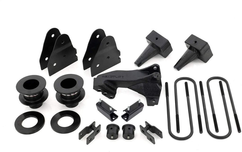 Ford F250 2011-2020 ReadyLift 3.5'' SST Lift Kit with 4'' Tapered Blocks for 1 Piece Drive Shaft Without Shocks