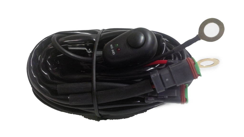 Single Plug & Play Wire Harness (Rocker Switch)