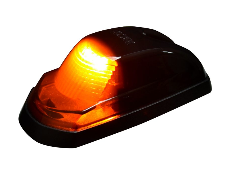 Ford 17-19 Super Duty 5 Piece Cab Lights LED Smoked Lens in Amber (For Non-OEM Trucks) 264342BK