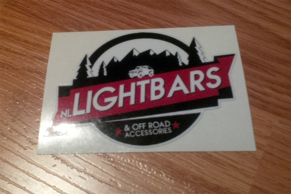 NL Light Bar Sticker 3″