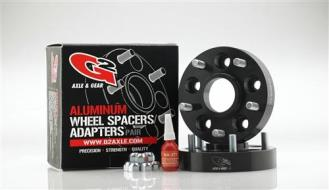 G2 5x5.5 Inch Bolt Pattern with 1.25 Inch Offset Wheel Spacers (Black) - 93-85-125