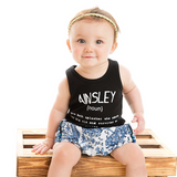Custom Name Definition™- Infant TANK One Piece Romper