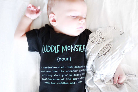 Name Definition™ Basic Noun Collectin | CUDDLE MONSTER Infant -One Piece Romper