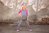 GIRLS Custom Name Definition™ Tee- RAGLAN V-neck