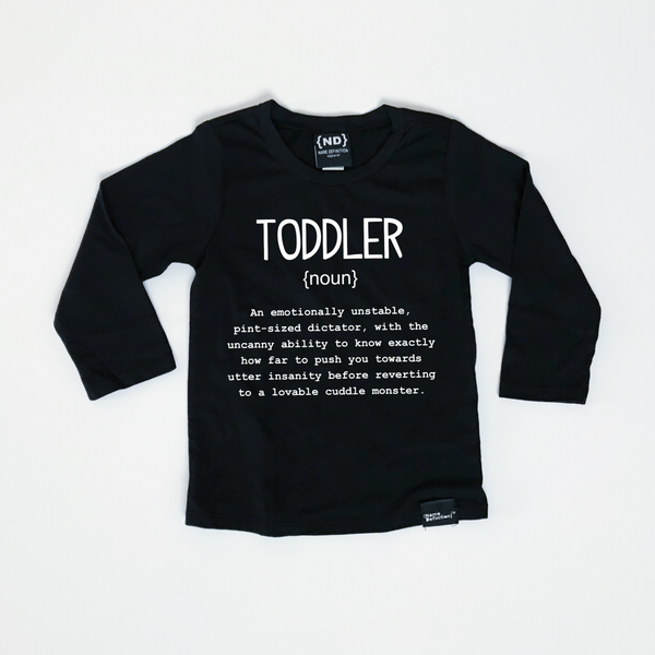 Name Definition™ Basic Noun Collection- LONG SLEEVE | TODDLER