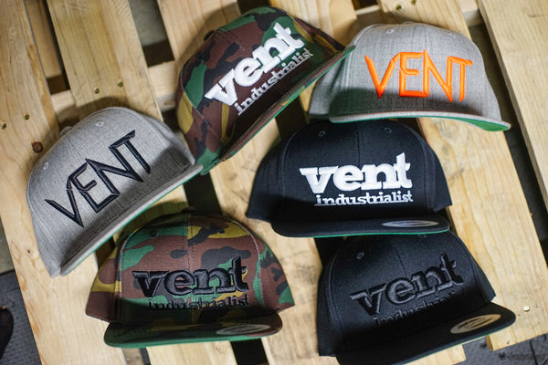 Vent Branded Snapback - Black/Black SOLD OUT