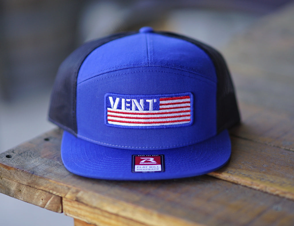 Vent Merica Snapback - Royal/Black