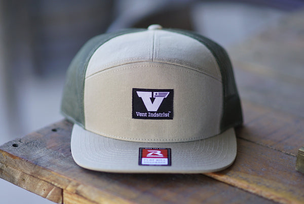 Vent Union Snapback - Natural/Olive