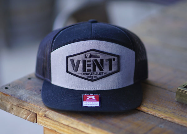 Vent Working Class Snapback - Black/Grey