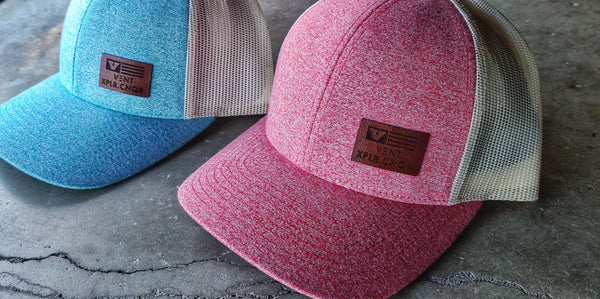 Minimal Leather Patch Snapback Hats