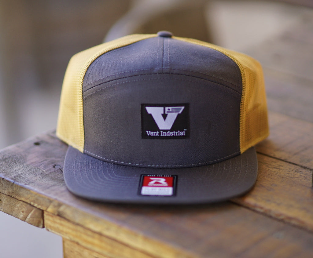 Vent Union Snapback - Grey/Orange