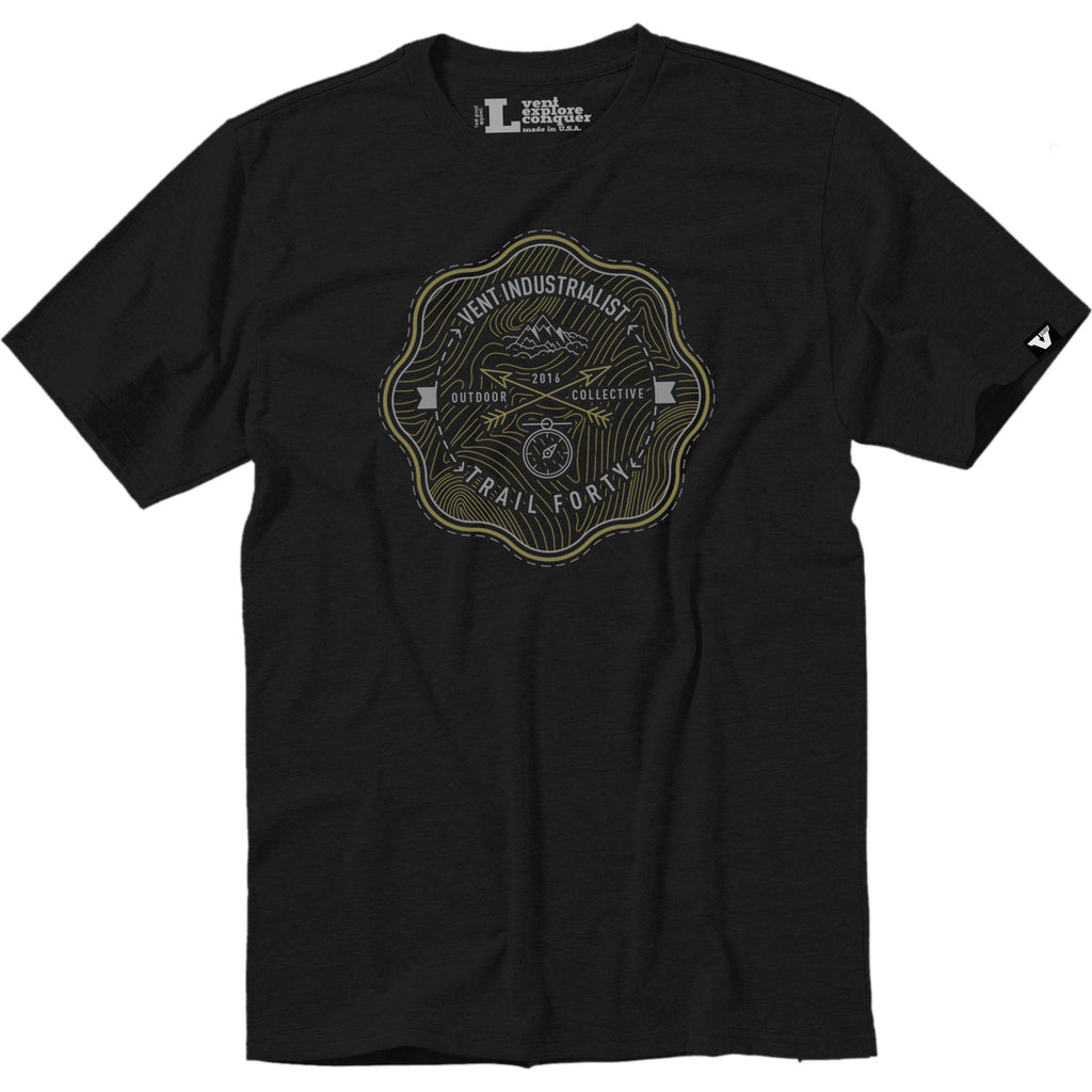 Vent x TrailForty Outdoor Collective Tee Black