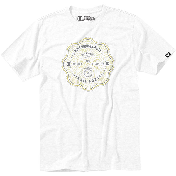 Vent x TrailForty Outdoor Collective Tee White
