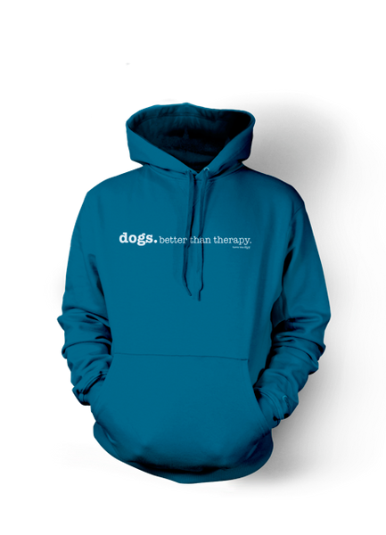 Love A Four Legged Word Hoodie-Heathered Turquoise