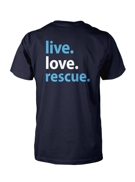 Live. Love. Rescue Short Sleeve T-Shirt