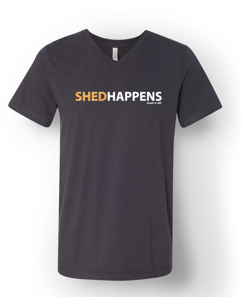 Shed Happens Short Sleeve T-Shirt V-Neck