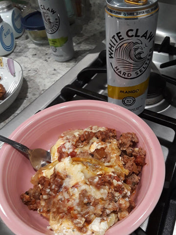 low carb cabbage lasagna and white claw