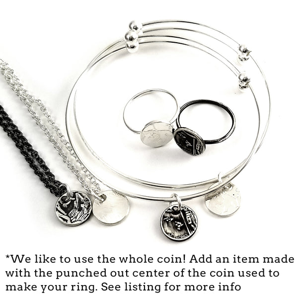 silver coin punch out jewelry by midnightjo