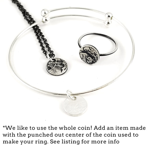 silver national park punch out coin jewelry by midnight jo