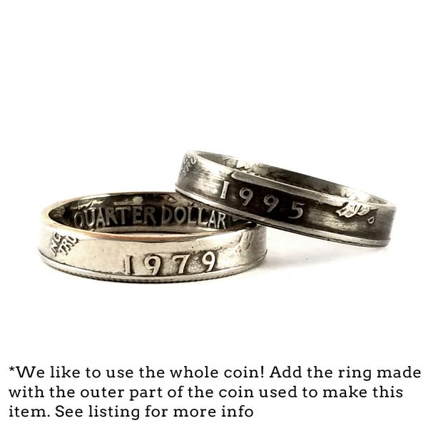 narrow band coin rings by midnight jo