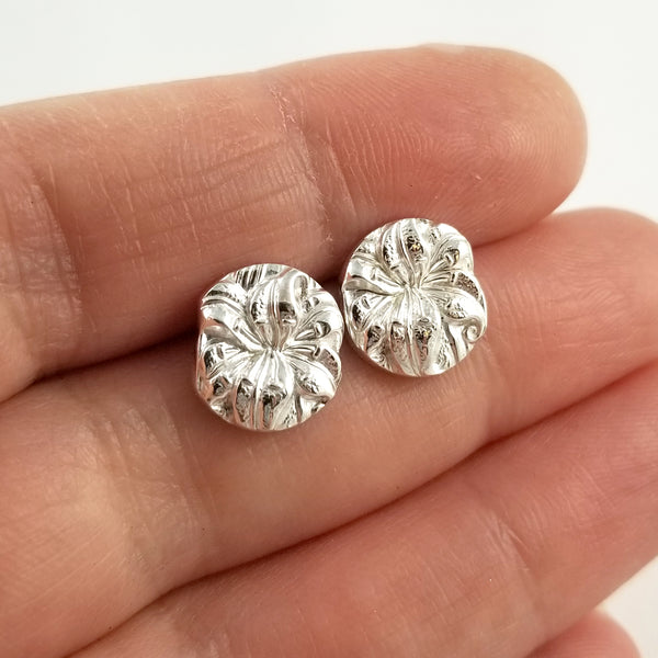 Sterling Silver Lily Spoon Stud Earrings by Midnight Jo