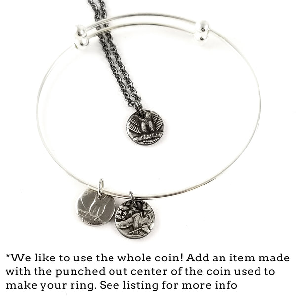 coin charm necklace and charm bracelet by midnight jo