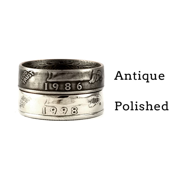 washington quarter coin rings by midnight jo