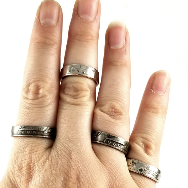 liberty quarter coin rings by midnight jo