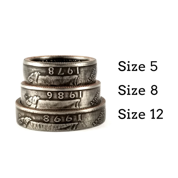 1965-1998 Washington Quarter Coin Ring by midnight jo