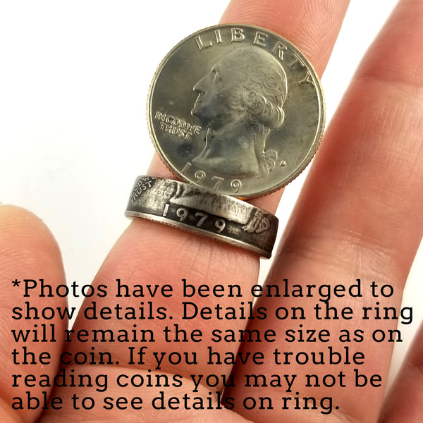 1990 Washington Quarter Coin Ring