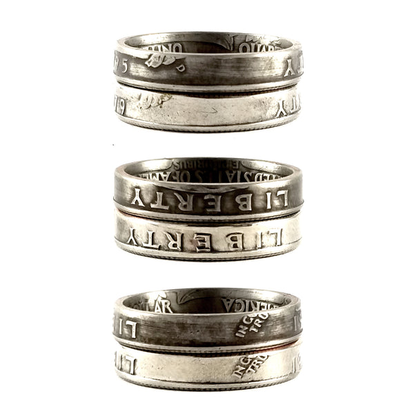 1965-1998 Washington Quarter Stacking Ring by midnight jo