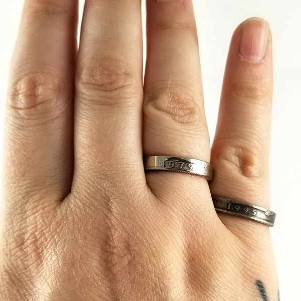 thin band coin rings by midnight jo