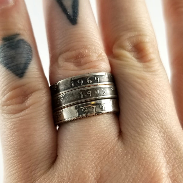 stacking quarter rings by midnight jo